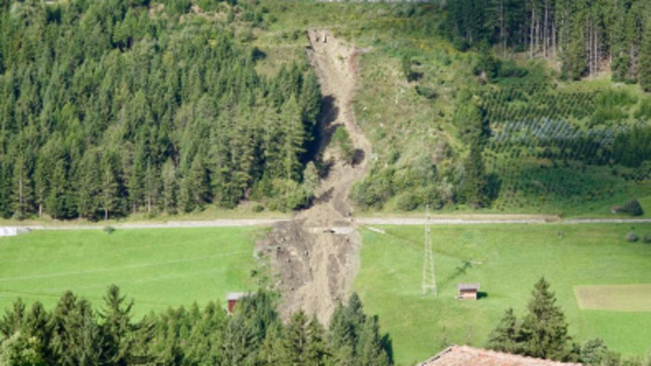 Murenabgang in Mühlbachl im vergangenen Jahr.