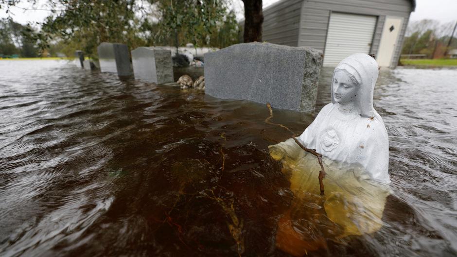 """Hurrikan """"Florence"""" setzte viele Orte in North und South Carolina unter Wasser."""