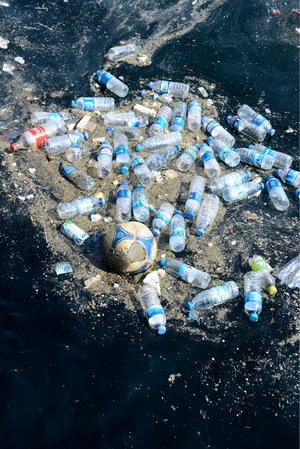 """Der Plastikmüll sammelt sich im """"Great Pacific Garbage Patch"""" zu Haufen an."""