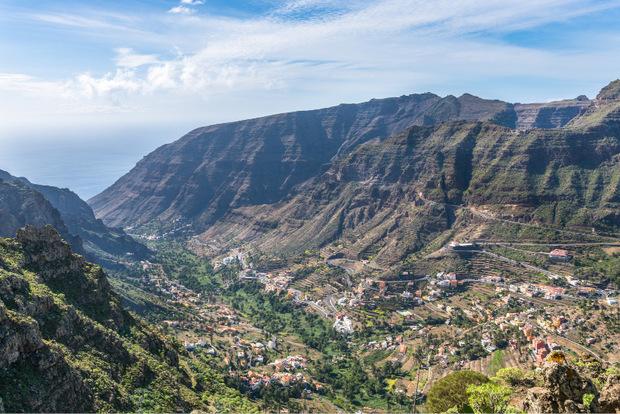Der Abstieg ins Valle Gran Rey ist weit.