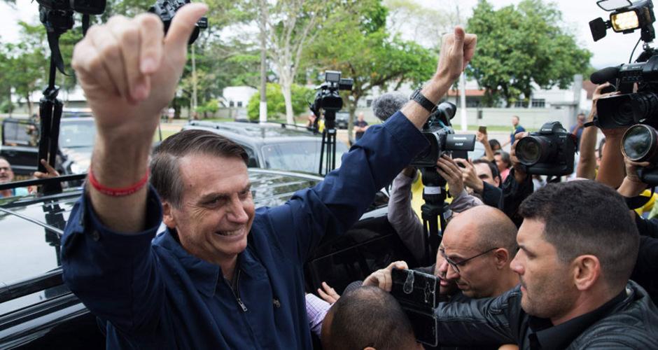 Jair Messias Bolsonaro kam im ersten Wahlgang auf 46,2 Prozent der Stimmen. Für die Stichwahl am 28. Oktober hat er damit sehr gute Chancen.