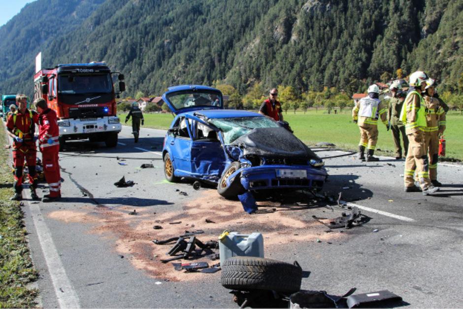Eines der Unfallfahrzeuge.