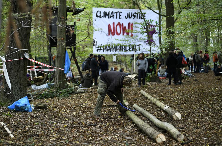 Proteste im Hambacher Forst.
