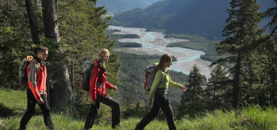Der Lechweg ist 125 km lang und in sechs bis acht Etappen bewältigbar.