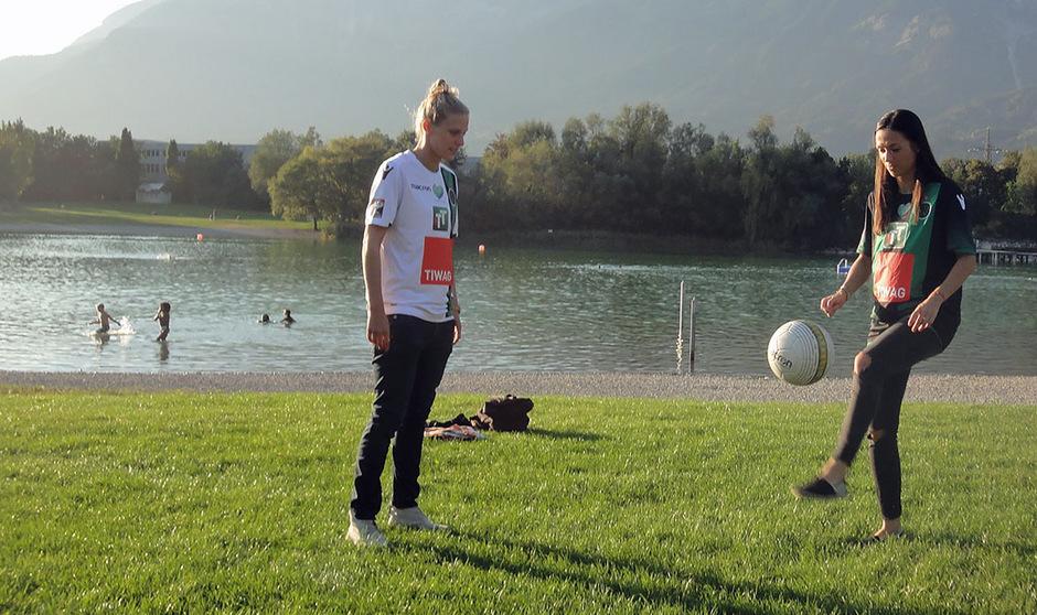 Ob beim Gaberln, beim Beachvolleyball oder beim Fußball-Tennis: Für Dengg und Innerhuber ist es wichtig, dass der Ball sich dreht.