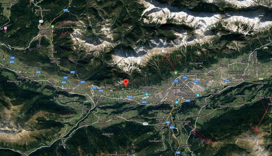 Das Beben wurde im Bereich des Inntals im Umkreis von etwa 20 km deutlich verspürt.