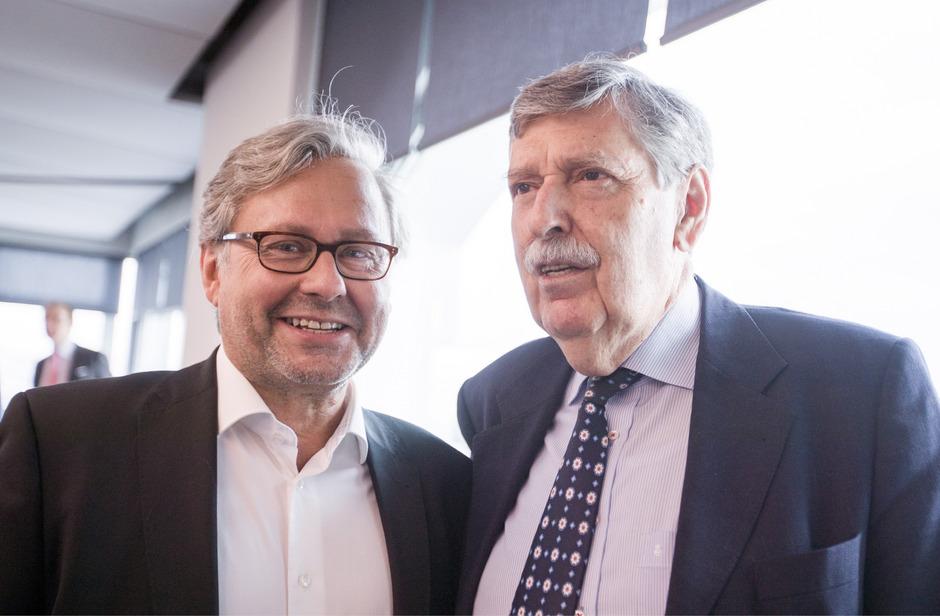 Der neue Vorsitzende des ORF-Stiftungsrats Norbert Steger (r.) und ORF-Generaldirektor Alexander Wrabetz.