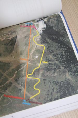Auf der gelb eingezeichneten Strecke geht's bergab.