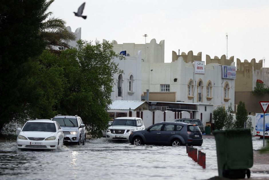 In Doha gab es an einem Tag so viel Regen wie sonst in einem Jahr.