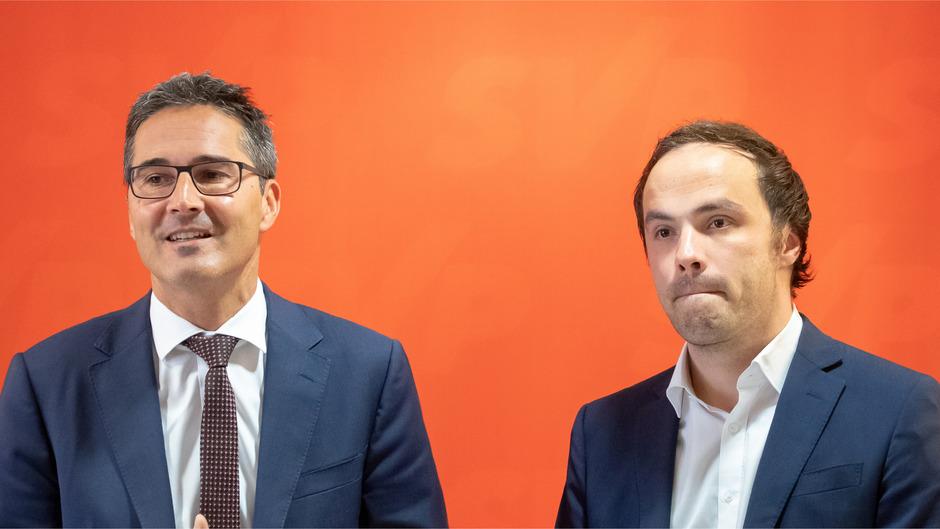 SVP-Spitzenkandidat und Landeshauptmann Arno Kompatscher und SVP-Chef Philipp Achammer.
