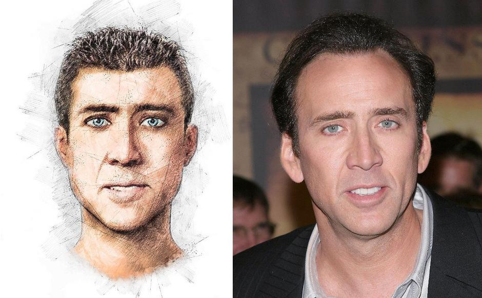 Irgendwas ist seltsam an diesem Phantombild: Der Mann erinnert stark an Nicolas Cage.