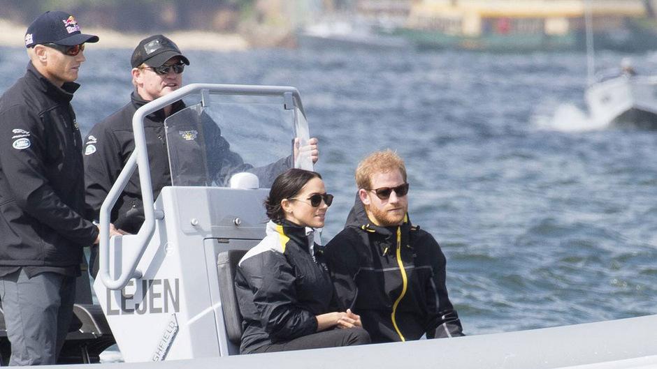 Als Zuschauerin bei einem Segel-Wettkampf im Hafen von Sydney war Meghan wieder dabei.