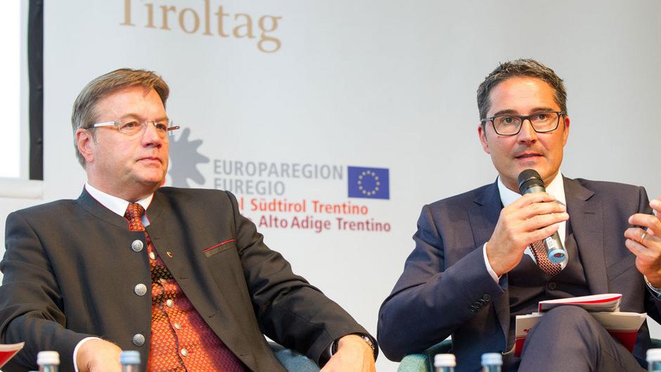 Landeshauptmann Günther Platter mit Südtirols LH Arno Kompatscher.