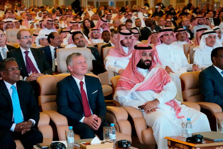Kronprinz Mohammed bin Salman bei der Investorenkonferenz in Riad.