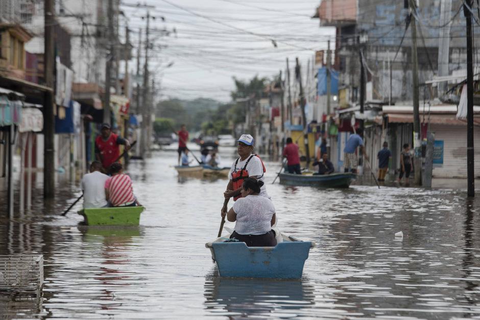 Überflutete Straßen in Veracruz.