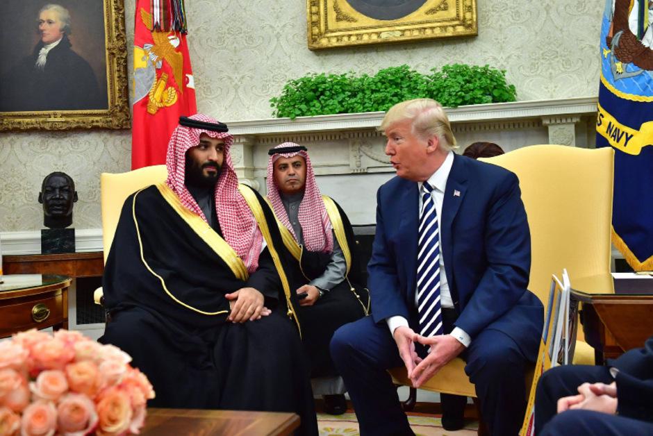 US-Präsident Donald Trump mit dem Kronprinzen Saudi-Arabiens Mohammed bin Salman.