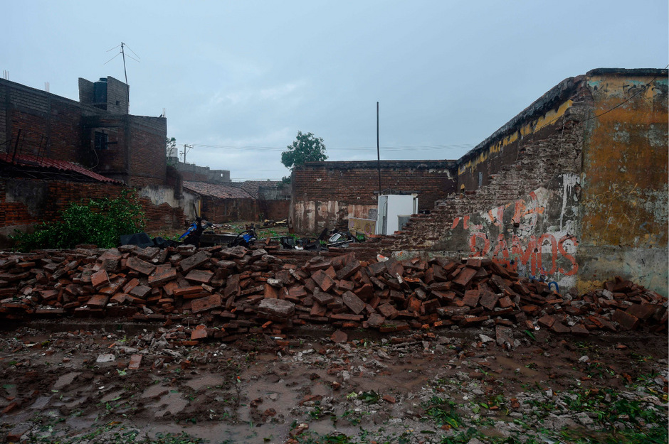 Der Tropensturm zerstörte auch historische Gebäude.