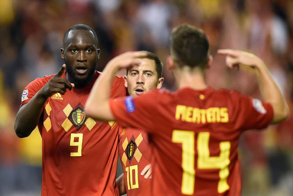 Romelu Lukaku schoss Belgien mit seinem Doppelpack zum Sieg und an die Spitze der Weltrangliste.