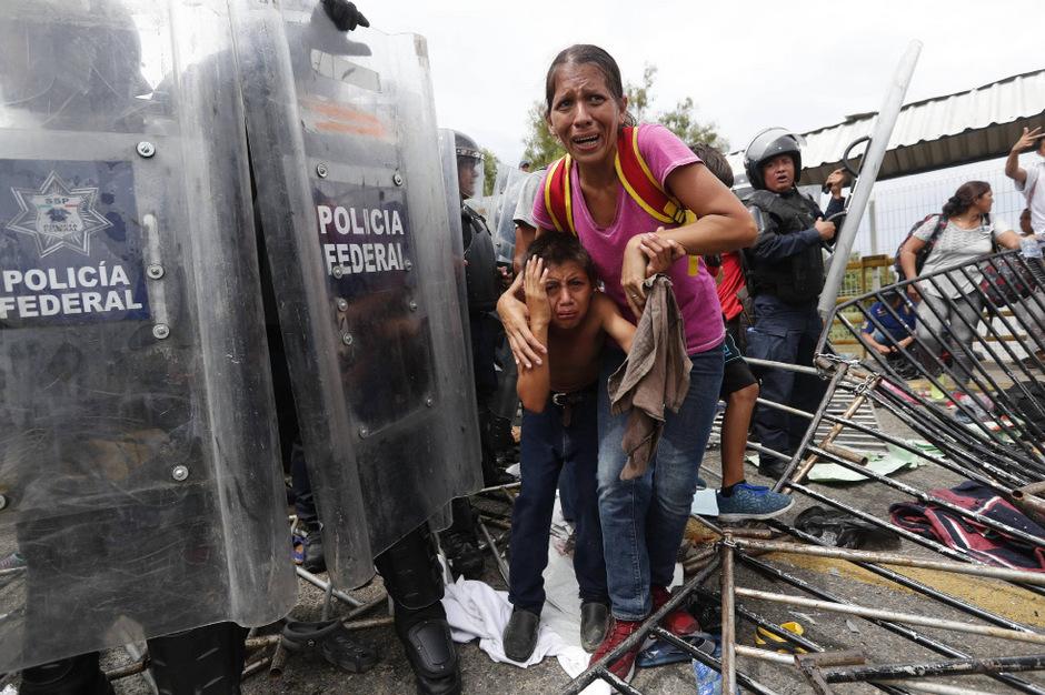 Viele Flüchtlinge sind derzeit von Honduras aus über Mexiko in Richtung USA unterwegs.
