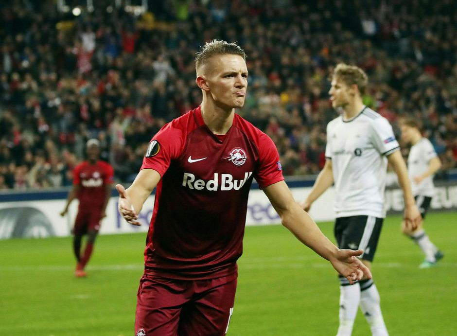 Hannes Wolf (FC Salzburg) nach dem 2:0.