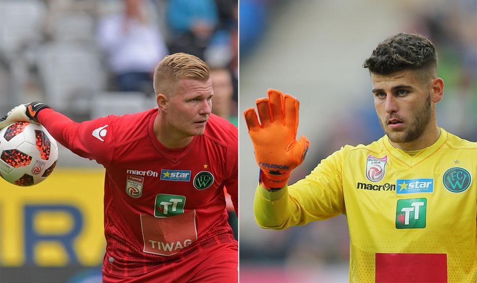 FCW-Goalie Christopher Knett ist wieder fit, Hidajet Hankic (r.) überzeugte in Salzburg.