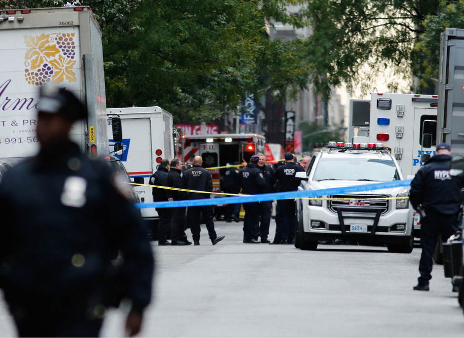 Polizeieinsatz in New York: In Manhatten wurde ein weiteres verdächtiges Paket gefunden.