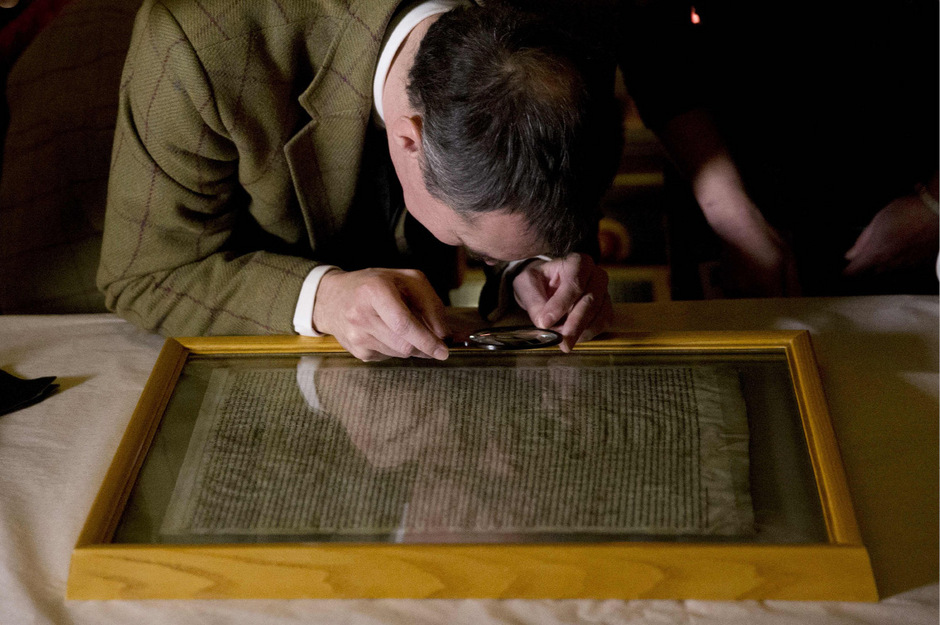 Eines der vier erhaltenen Originalexemplare der Magna Carta.