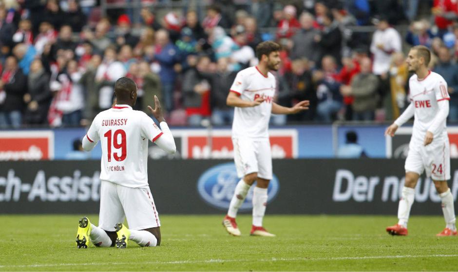 Sehrou Guirassy erzielte den Ausgleich für Köln.