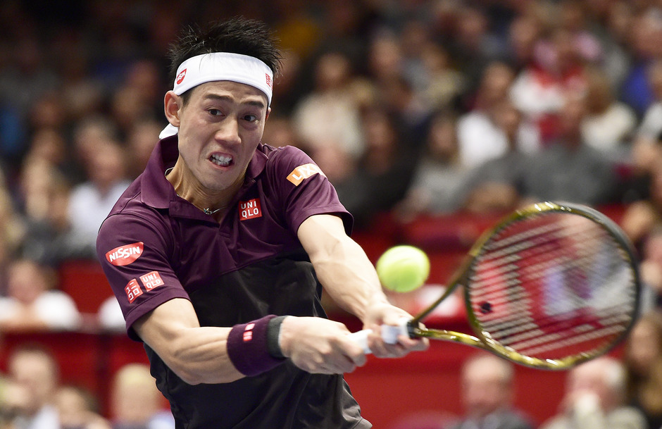 Kei Nishikori spielte auch im Wien-Halbfinale groß auf.