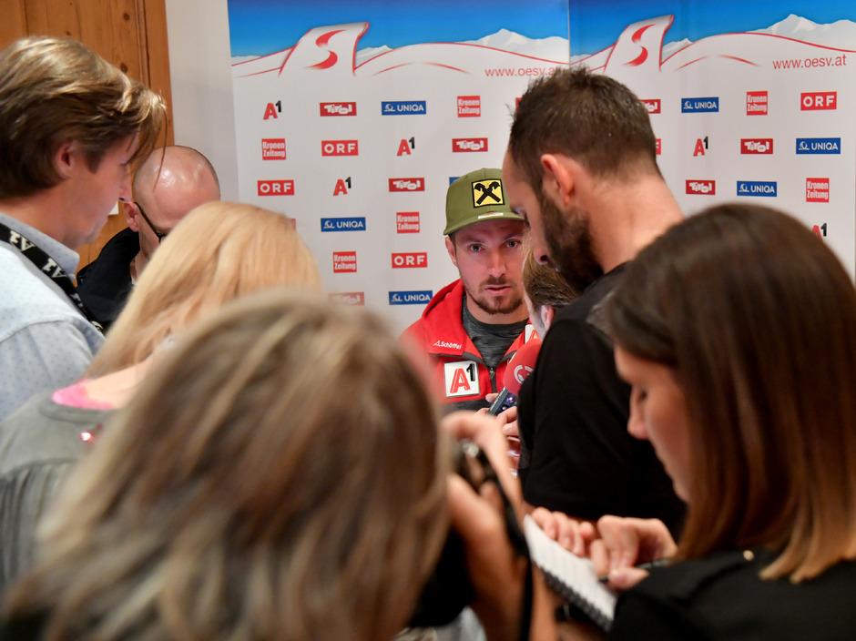 Gefragter Mann: ÖSV-Skistar Marcel Hirscher.