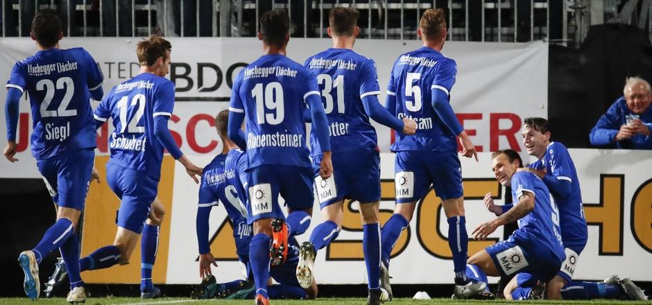 Hartberg jubelte über den nächsten Bundesliga-Coup.
