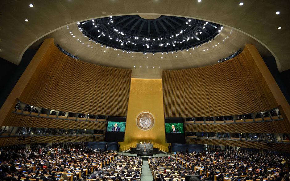 Die UNO-Generalversammlung.
