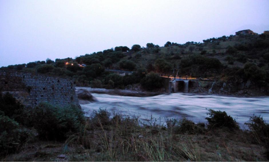 Mehrere Brücken stürzten ein, wie hier nahe Oliena.