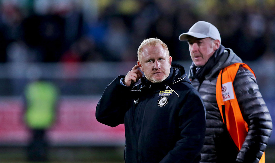 Sturm-Trainer Heiko Vogel blickt unruhigen Zeiten entgegen.