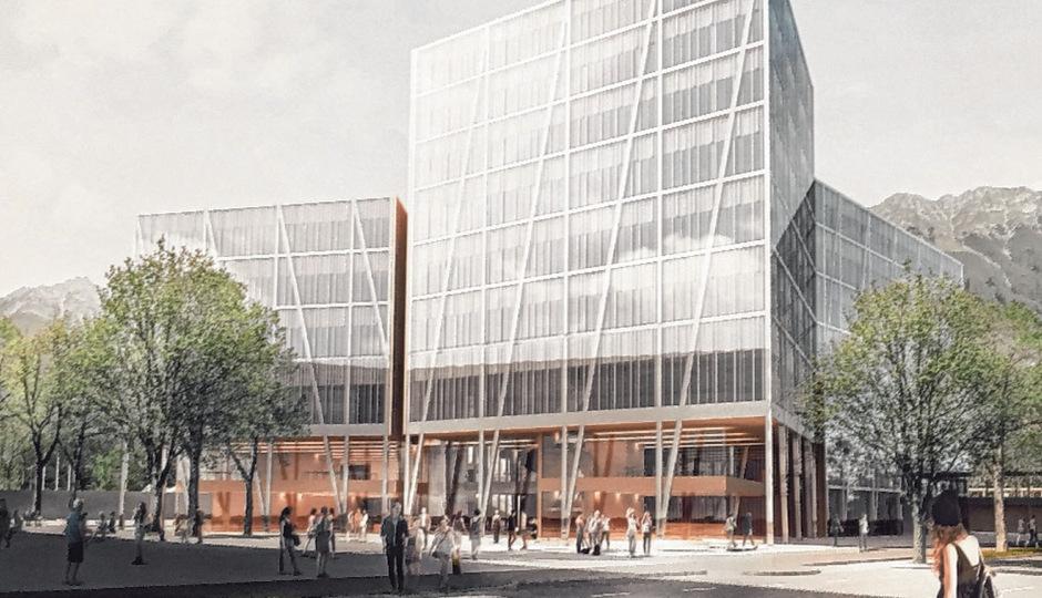 Direkt angrenzend an die SoWi hätte das neue MCI für 3000 Studierende in der Innsbrucker Kaiserjägerstraße hochgezogen werden sollen.