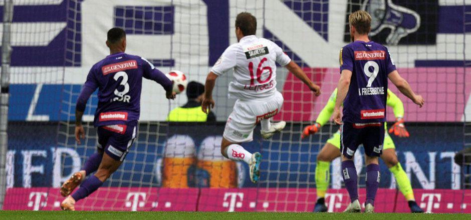 Mario Leitgeb hatte sein Visier perfekt eingestellt, schoss alle drei WAC-Tore gegen die Austria.