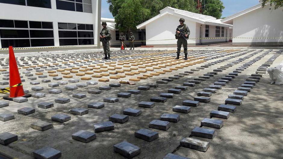 Immer wieder werden in Kolumbien enorme Mengen Kokain beschlagnahmt.