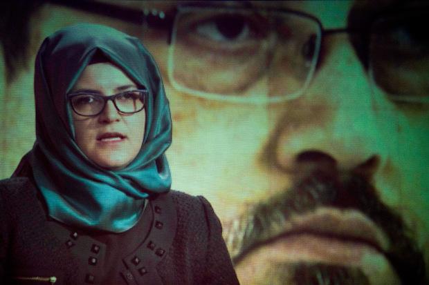 Die Verlobte von Jamal Khashoggi sprach im Rahmen einer Gedenkfeier vor einigen Tagen.