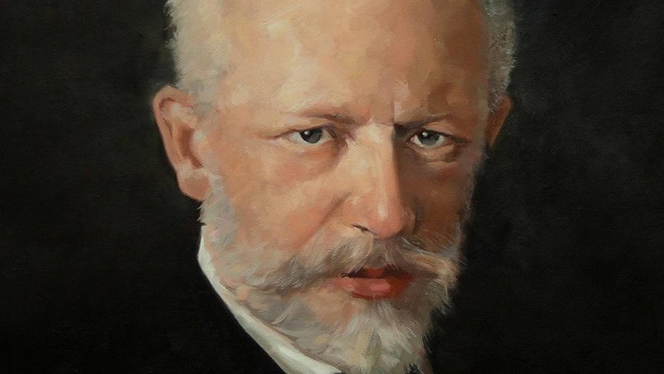 Klug, elegant und distanziert schaut der Komponist Peter Iljitsch Tschaikowsky aus einem Gemälde von Nikolai Kuznetsov.