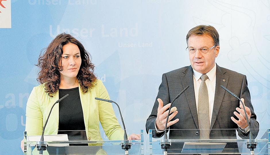 Das schwarz-grüne Führungsduo LH Günther Platter  und LHStv. Ingrid Felipe