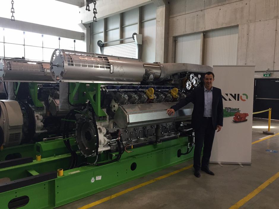 """Jenbacher Gasmotoren bleiben auch unter dem Neo-Eigentümer Advent und der Dachmarke Innio """"eine Perle"""", betont Carlos Lange."""