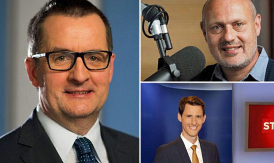 Postenkarussell: Noch-Chefredakteur Robert Unterweger (links) wird ab 1. Jänner neuer Landesdirektor des ORF Tirol. David Runer (unten) oder Stefan Lindner (oben) übernehmen die Chefredaktion.