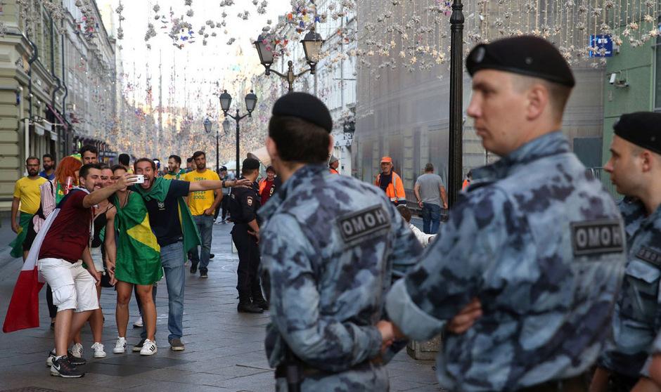 Zahlreiche Polizisten sorgten während der WM für die Sicherheit der Fußballfans.