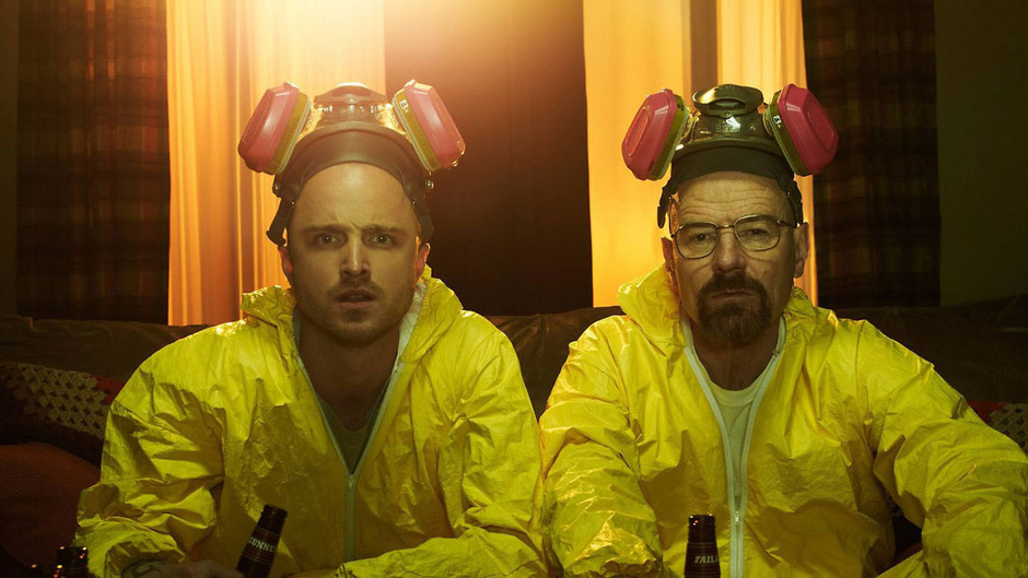 Stellten erfolgreich Crystal Meth her: Jesse Pinkman (Aaron Paul) und Walter White (Bryan Cranston).