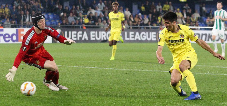 Auf Rapid-Goalie Richard Strebinger dürfte heute gegen Villarreal wieder ein arbeitsreicher Abend zukommen.