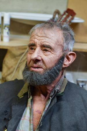 Der 85-jährige Walter Pirhofer wirkt bereits zum elften Mal als Darsteller bei dem traditionellen Spektakel mit.