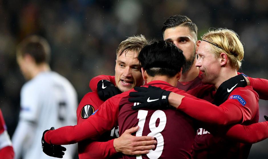 Mit drei Treffern gefeierte Mann des Abends: Salzburg-Angreifer Takumi Minamino.