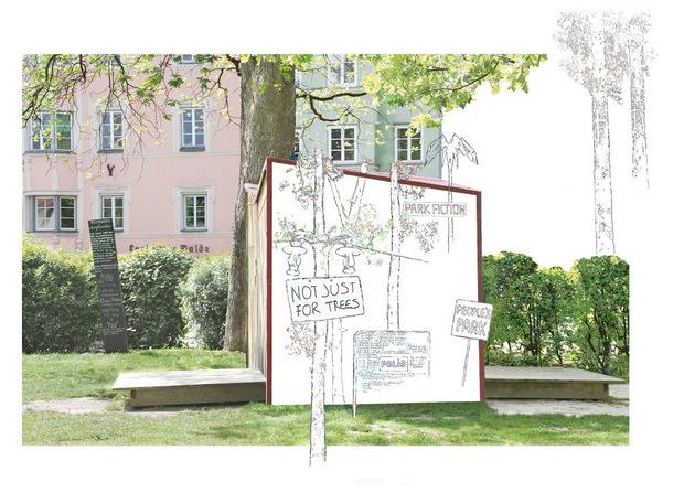 Prantauer thematisiert im Waltherpark den öffentlichen Raum.