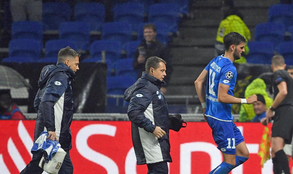 Hoffenheim-Legionär Florian Grillitsch musste gegen Lyon verletzt vom Feld.