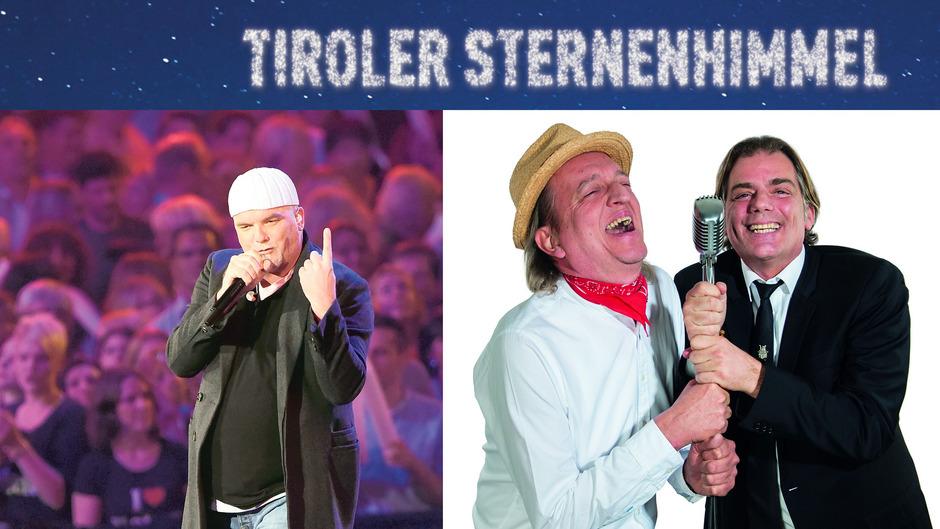 """DJ Ötzi, Markus Linder und Hubert Trenkwalder (von links) lassen neben vielen anderen Musikern den """"Tiroler Sternenhimmel"""" leuchten."""